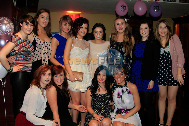 Michelle and Sinead Kerr with there friends.Kerr double 21th in McHughs.Picture www.newsfile.ie