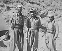 Iraq 1978 <br />  In Qandil, from left to right, Nou Shirwan, , Mullazem Omar and Ibrahim Jelal  <br /> Irak 1978 <br /> A Qandil de gauche a droite, Nou Shirwan,Mullazem Omar and Ibrahim Jelal