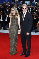 VENICE, ITALY - SEPTEMBER 05: David E. Kelley and Michelle Pfeiffer attend 'Mother' Red Carpet during 74th Venice Film Festival at Palazzo Del Cinema on September 5, 2017 in Venice, Italy. (Mark Cape/insidefoto)