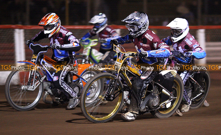 Kim Nilsson, Peter Karlsson, Rob Mear and Justin Sedgmen during the Silver Hammer competition - Lakeside Hammers Open Evening at the Arena Essex Raceway, Pufleet - 23/03/12 - MANDATORY CREDIT: Rob Newell/TGSPHOTO - Self billing applies where appropriate - 0845 094 6026 - contact@tgsphoto.co.uk - NO UNPAID USE..
