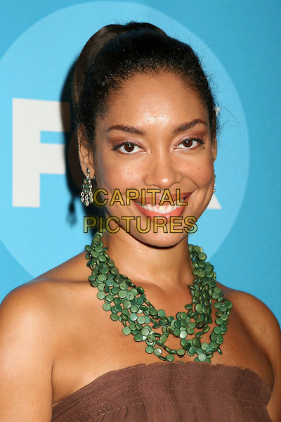 GINA TORRES.2006 FOX TCA Summer Party, Pasadena, California, USA. .July 25th, 2006.Photo: Byron Purvis/AdMedia/Capital Pictures.Ref: ADM/BP.headshot portrait green necklace strapless.www.capitalpictures.com.sales@capitalpictures.com.©AdMedia/Capital Pictures.