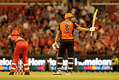 8th January 2018, The WACA, Perth, Australia; Australian Big Bash Cricket, Perth Scorchers versus Melbourne Renegades; David Willey of the Perth Scorchers aknowledges the applaus for his 50 runs during his innings of 55