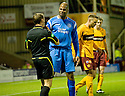10/11/2010   Copyright  Pic : James Stewart.sct_jspa016_motherwell_v_st_johnstone  .:: MICHAEL DUBERRY HAS A GO AT REF CRAWFORD ALLAN AFTER HE WAS DENIED A PENALTY AFTER A TUSSLE WITH JOHN SUTTON  ::.James Stewart Photography 19 Carronlea Drive, Falkirk. FK2 8DN      Vat Reg No. 607 6932 25.Telephone      : +44 (0)1324 570291 .Mobile              : +44 (0)7721 416997.E-mail  :  jim@jspa.co.uk.If you require further information then contact Jim Stewart on any of the numbers above.........