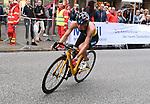 06.07.2019,  Innenstadt, Hamburg, GER, Hamburg Wasser World Triathlon, Elite Frauen, im Bild die Triathletinnen auf dem Fahrrad in der Moenckebergstrasse mit Anja Knapp (GER) Foto © nordphoto / Witke *** Local Caption ***