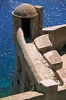 Europe/France/Corse/2B/Haute-Corse/Balagne/Calvi: La citadelle - Détail échauguette des remparts