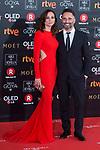 Leonor Watling and Jorge Drexler attends red carpet of Goya Cinema Awards 2018 at Madrid Marriott Auditorium in Madrid , Spain. February 03, 2018. (ALTERPHOTOS/Borja B.Hojas)