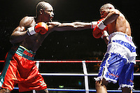September 28th 2007- Skydome, Coventry, England- Howard Eastman and Wayne Elcock trade punches during their 12 round British middleweight contest at the Skydome in Coventry, England.