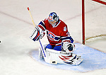 11 November 2008:  Montreal Canadiens' goaltender Carey Price makes a save in the first period against the Ottawa Senators at the Bell Centre in Montreal, Quebec, Canada. The Canadiens outplayed the visiting Senators 4-0 with Price capturing his first shut-out of the season. ***Editorial Sales Only***..Mandatory Photo Credit: Ed Wolfstein Photo *** Editorial Sales through Icon Sports Media *** www.iconsportsmedia.com