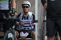 Dutch ITT Champion Tom Dumoulin (NED/Team Sunweb) waiting for his start. <br /> <br /> Binckbank Tour 2017 (UCI World Tour)<br /> Stage 2: ITT Voorburg (NL) 9km