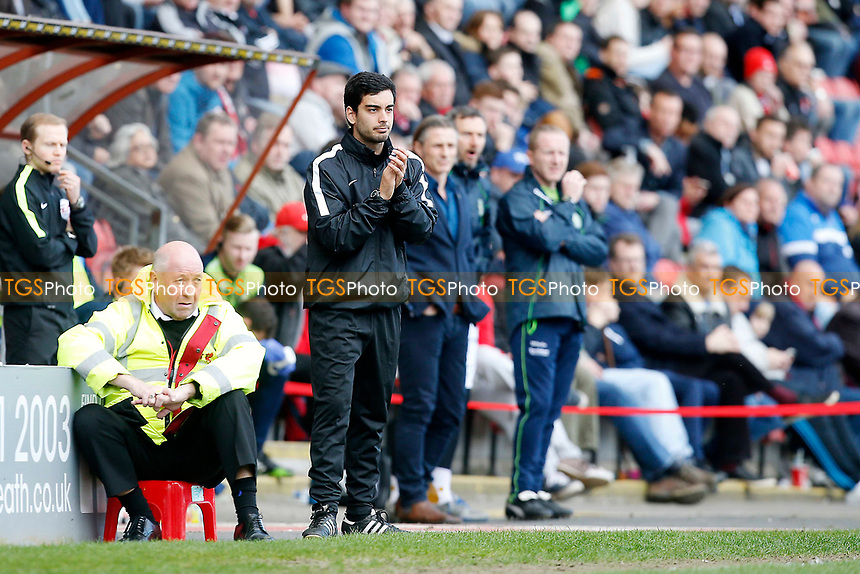 O's Frederico Morais(former Youth Development Phase Lead Charge) takes charge for the 2nd half after new manager Omer Riza during Leyton Orient vs Wycombe Wanderers, Sky Bet EFL League 2 Football at the Matchroom Stadium on 1st April 2017
