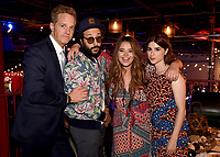 """LOS ANGELES, CA - APRIL 3: (L-R) Cast members Chris Geere, Desmin Borges, Kether Donohue and Aya Cash attend the post-party at Two Bit Circus following the FYC Red Carpet event for the series finale of FX's """"You're the Worst"""" on April 3, 2019 in Los Angeles, California. (Photo by Frank Micelotta/FX/PictureGroup)"""