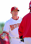 28 February 2010: Washington Nationals Hitting Coach Rick Eckstein gives instruction during Spring Training at the Carl Barger Baseball Complex in Viera, Florida. Mandatory Credit: Ed Wolfstein Photo