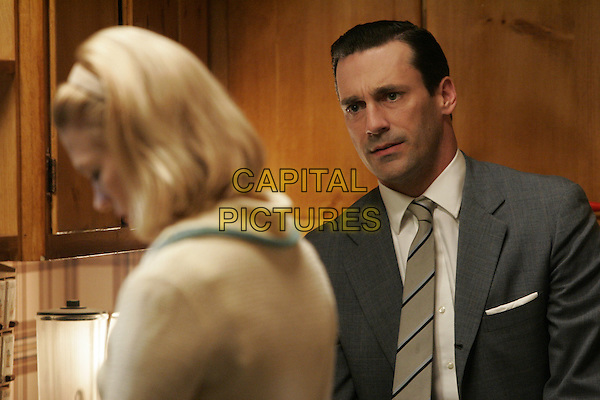 JON HAMM, JANUARY JONES<br /> in Mad Men (Season 1)<br /> *Filmstill - Editorial Use Only*<br /> CAP/FB<br /> Image supplied by Capital Pictures