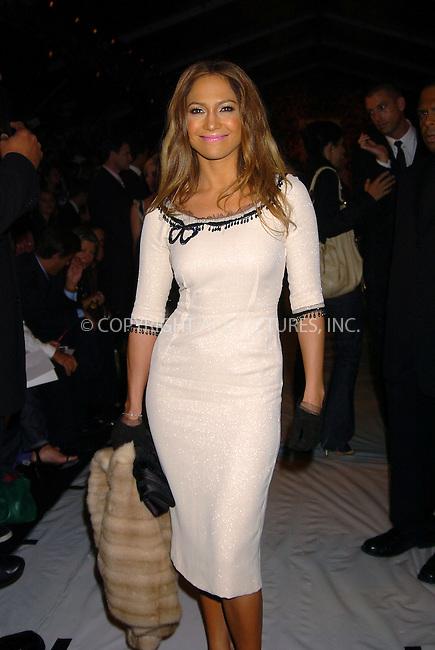 WWW.ACEPIXS.COM . . . . .  ..NEW YORK, SEPTEMBER 13, 2004: Jennifer Lopez at Marc Jacobs Fashion Show. Please byline: AJ Sokalner - ACE PICTURES..... *** ***..Ace Pictures, Inc:  ..Alecsey Boldeskul (646) 267-6913 ..Philip Vaughan (646) 769-0430..e-mail: info@acepixs.com..web: http://www.acepixs.com