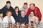 FOUNDATION: The O'Connor family and friends who took part in the Pa Joe O'Connor Memorial Table Quiz at Causeway Comprehensive School on Friday night. Front l-r: Helen O'Connor, Tom O'Connor and Ciara Regan. Back l-r : Sean ODwyer, Roisin O'Regan, Tommy O'Connor and Philip O'Dwyer..