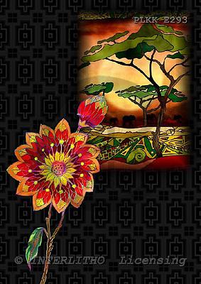 Kris, ETHNIC, paintings,+savanna, flowers++++,PLKKE293,#ethnic# étnico, illustrations, pinturas