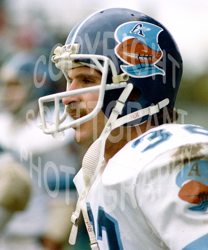 David Newman Toronto Argonauts 1982. Photo F. Scott Grant