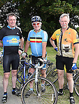 Ollie, Bernard and Tony Ward who took part n the annual Dromin charity cycle in aid of Ardee Hospice.  Photo:Colin Bell/pressphotos.ie