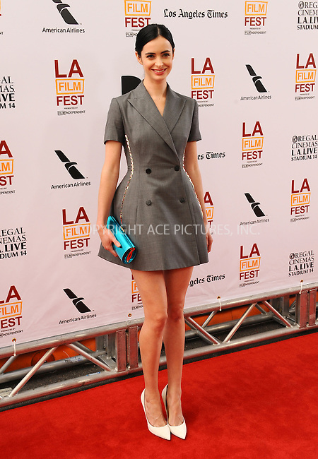 WWW.ACEPIXS.COM<br /> <br /> June 23 2013, LA<br /> <br /> Actress Krysten Ritter at the 2013 Los Angeles Film Festival premiere of the Fox Searchlight Pictures' 'The Way, Way Back' held on June 23, 2013 in Los Angeles, California.<br /> <br /> By Line: Peter West/ACE Pictures<br /> <br /> <br /> ACE Pictures, Inc.<br /> tel: 646 769 0430<br /> Email: info@acepixs.com<br /> www.acepixs.com