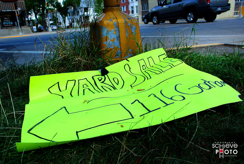 Yard sale side trash.