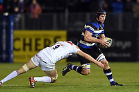 Paul Grant of Bath Rugby in possession. Anglo-Welsh Cup match, between Bath Rugby and Leicester Tigers on November 10, 2017 at the Recreation Ground in Bath, England. Photo by: Patrick Khachfe / Onside Images