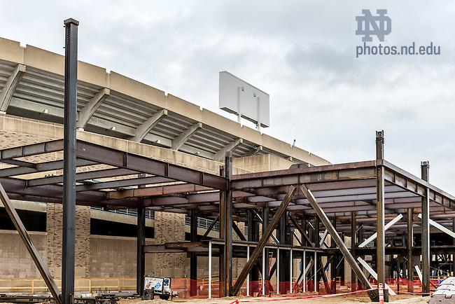 Dec. 16, 2015; Campus Crossroads south building construction. (Photo by Matt Cashore/University of Notre Dame)