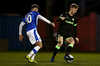 Nathan McGinley of Forest Green Rovers and Sammie Szmodics of Colchester United during Colchester United vs Forest Green Rovers, Sky Bet EFL League 2 Football at the JobServe Community Stadium on 12th March 2019