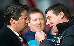 Hearts v St Johnstone...05.02.12.. Scottish Cup 5th Round.Paulo Sergio and saints assistant manager Tommy Wright before kick off.Picture by Graeme Hart..Copyright Perthshire Picture Agency.Tel: 01738 623350  Mobile: 07990 594431