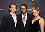 Andrew Garfield, Tony Kushner and Denise Gough during the arrivals for the 2018 Drama Desk Awards at Town Hall on June 3, 2018 in New York City.