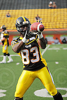 June 26, 2008; Hamilton, ON, CAN; Hamilton Tiger-Cats wide receiver Eddie Cohen (83). CFL football - Montreal Alouettes defeated the Hamilton Tiger-Cats 33-10 at Ivor Wynne Stadium. Mandatory Credit: Ron Scheffler-www.ronscheffler.com. Copyright (c) Ron Scheffler
