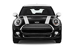 Car photography straight front view of a 2015 MINI Mini Cooper 5 Door Hatchback 2WD Front View
