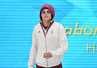 August 01, 2012..Gabor Balog arrives to compete in Men's 200m Backstroke Semifinal at the Aquatics Center on day five of 2012 Olympic Games in London, United Kingdom.