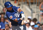 Los Angeles Dodgers'    bats in a spring training game in Glendale, Ariz., on Saturday, March 19, 2016. <br />