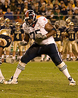 02 September 2006: Virginia tackle Eugene Monroe..The Pitt Panthers defeated the Virginia Cavaliers 38-13 on September 02, 2006 at Heinz Field, Pittsburgh, Pennsylvania.