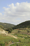 Israel, Lower Galilee, a view of Zippori stream