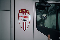CX World Champion Mathieu Van Der Poel's (NED/Correndon-Circus) guardian<br /> <br /> Superprestige cyclocross Hoogstraten 2019 (BEL)<br /> Elite Men's Race<br /> <br /> &copy;kramon
