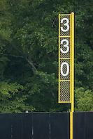 The right field foul pole at Dan Daniels Park in Danville, VA, Sunday July 27, 2008.