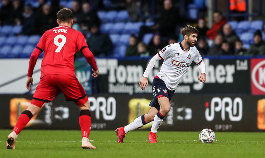Bolton Wanderers' Luke Murphy breaks<br /> <br /> Photographer Andrew Kearns/CameraSport<br /> <br /> Emirates FA Cup Third Round - Bolton Wanderers v Walsall - Saturday 5th January 2019 - University of Bolton Stadium - Bolton<br />  <br /> World Copyright © 2019 CameraSport. All rights reserved. 43 Linden Ave. Countesthorpe. Leicester. England. LE8 5PG - Tel: +44 (0) 116 277 4147 - admin@camerasport.com - www.camerasport.com