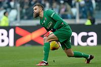 2nd February 2020; Allianz Stadium, Turin, Italy; Serie A Football, Juventus versus Fiorentina; Bartlomiej Dragowski the goalkeeper of Fiorentina puts the ball back into play