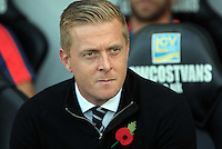 Swansea manager Garry Monk prior to the Barclays Premier League match between Swansea City and Arsenal at the Liberty Stadium, Swansea on October 31st 2015