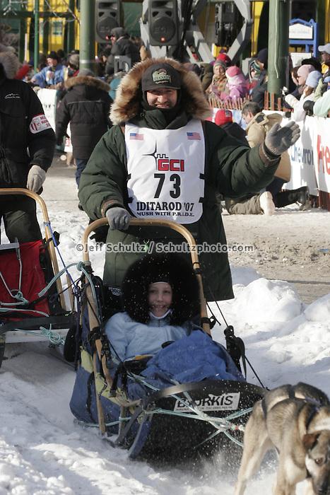 2007 Iditarod Ceremonial Start Anchorage Alaska
