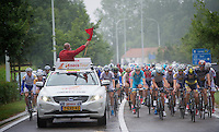 the official start is about to be given (as the flag drops)x<br /> <br /> Eneco Tour 2013<br /> stage 7: Tienen - Geraardsbergen<br /> 208km