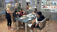 Celebrity Big Brother 2017<br /> Trisha Paytas, Jemma Lucy and Sam Thompson.<br /> *Editorial Use Only*<br /> CAP/KFS<br /> Image supplied by Capital Pictures