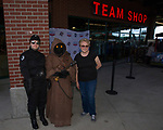"Barbara Vasquez poses with Star Wars characters during the Reno Aces ""Star Wars Night"" in Reno on Saturday, June 8, 2019."