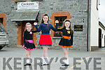 l-r  Olivia Angland, Grace Angland and Colleen Angland from Glenflesk. at the 55th Féile Cheoil Step dancing competitions at the Ceolann building Lixnaw on Saturday