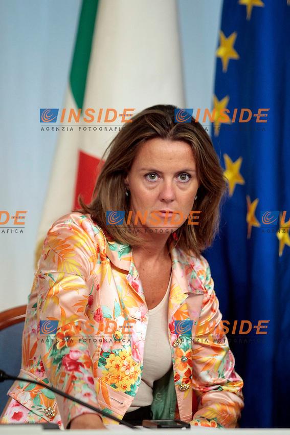 Beatrice Lorenzin<br /> Roma 09-09-2013 Palazzo Chigi. Conferenza stampa al termine del CDM, Cosiglio dei Ministri.<br /> Press conference at the end of the Minister's Cabinet<br /> Photo Samantha Zucchi Insidefoto
