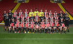 Sheffield Utd team group with show racism the red card during the 2017/18 Photocall at Bramall Lane Stadium, Sheffield. Picture date 7th September 2017. Picture credit should read: Simon Bellis/Sportimage