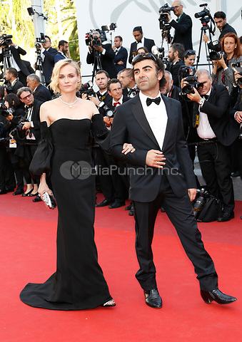 Director Fatih Akin and Diane Kruger arrive to attend the closing ceremony of the 70th Annual Cannes Film Festival at Palais des Festivals in Cannes, France, on 28 May 2017. <br />