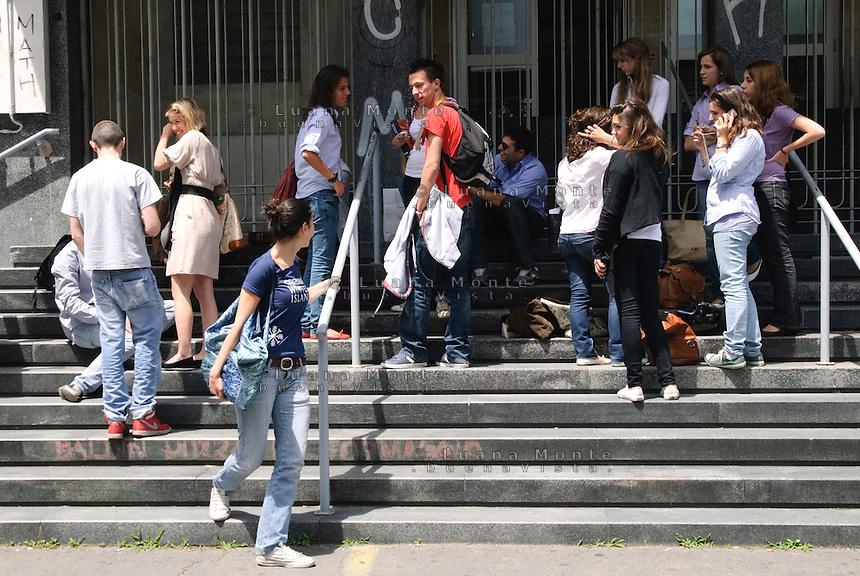 Esami di marurit&agrave; al liceo classico Beccaria. Scuola media superiore. Milano, 22 giugno 2010<br /> <br /> Examination for Advanced-level General Certificate of Education. Beccaria High School. Milan, June 22, 2010