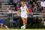 20 September 2012: Maryland's Kristene Mumby. The University of Maryland Terrapins played the Duke University Blue Devils to a 2-2 tie after overtime at Koskinen Stadium in Durham, North Carolina in a 2012 NCAA Division I Women's Soccer game.